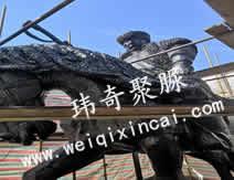内蒙古师范大学雕塑聚脲喷涂